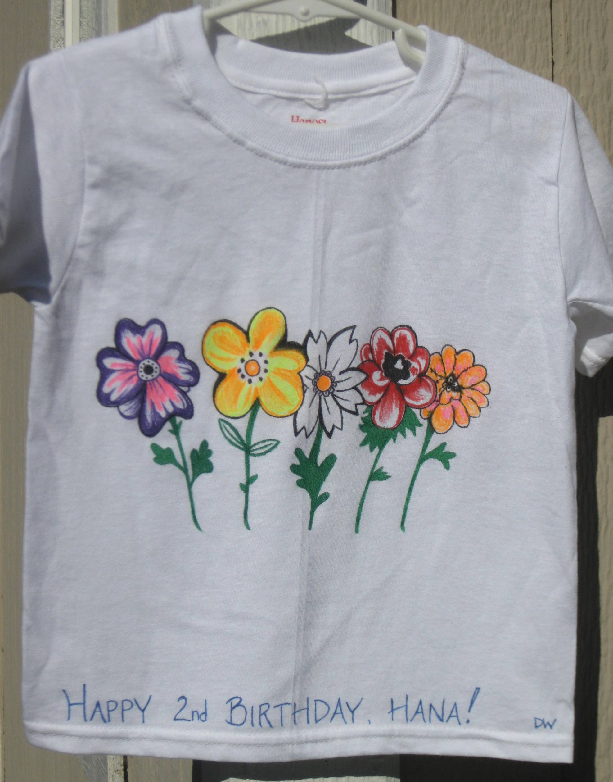 Hand painted t shirts coffee lilacs for How to paint on t shirt